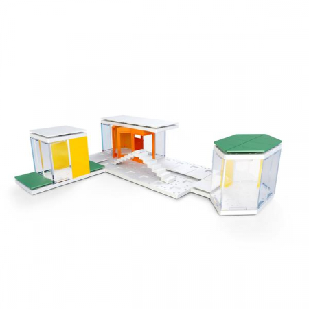 Kit constructie arhitectura - Mini Modern Colours 2.0, 105 piece Architectural Model Kit4