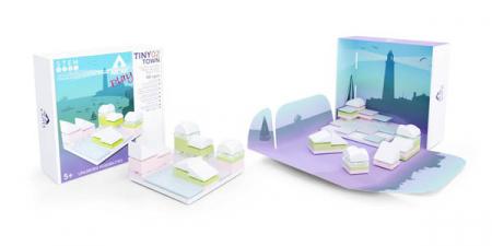 Kit constructie arhitectura - Tiny Town 2 Marina, 40 piece Architectural Model Kit2
