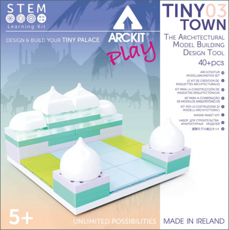 Kit constructie arhitectura - Tiny Town 3 Palace, 40 piece Architectural Model Kit0