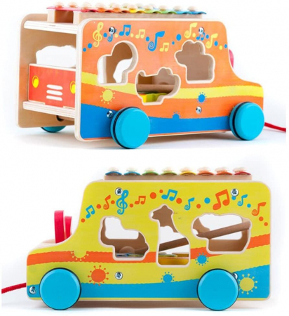 Masinuta din lemn cu xilofon [1]