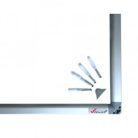 Pachet tabla magnetica alba VISUAL – 120×200 cm5