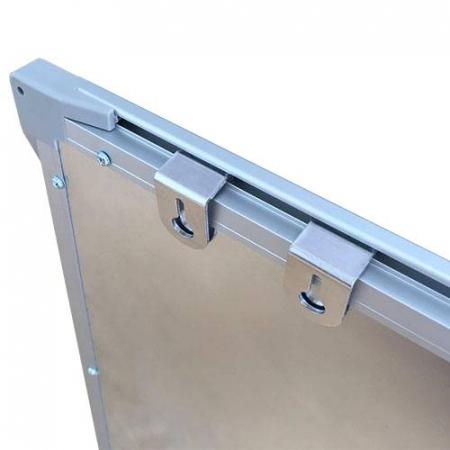 Pachet tabla magnetica alba VISUAL – 120×300 cm3