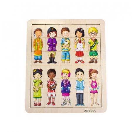 Puzzle amesteca si potriveste - Copiii lumii1