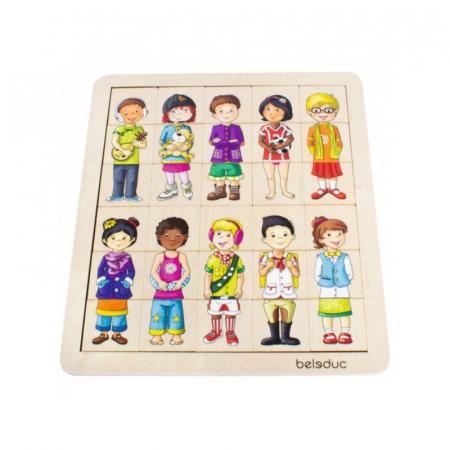Puzzle amesteca si potriveste - Copiii lumii2