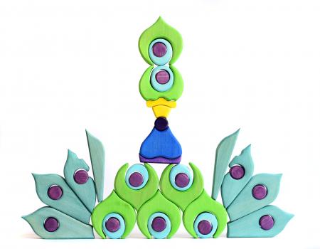 Puzzle din lemn - Paun6