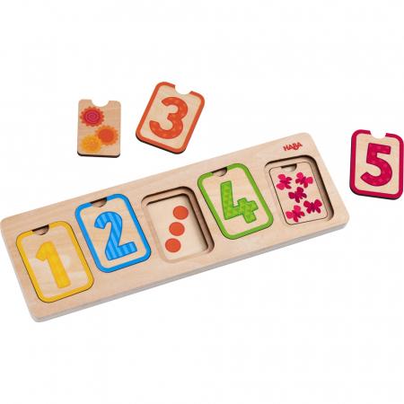 Puzzle lemn - Primele numere (304587)1