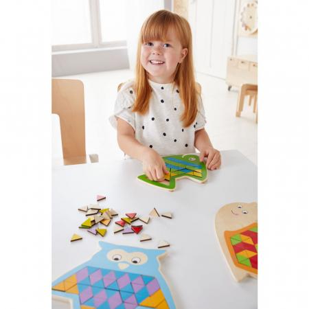 Puzzle mandala lemn - Animal trio0