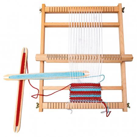 Razboi de tesut pentru copii, cu lana - set de indemanare - Bino Mertens2