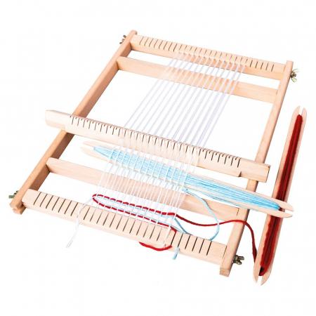 Razboi de tesut pentru copii, cu lana - set de indemanare - Bino Mertens1