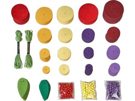 Set creativ din fetru - Fructele1