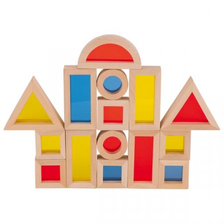 Set cuburi de construit din lemn, cu ferestre [2]