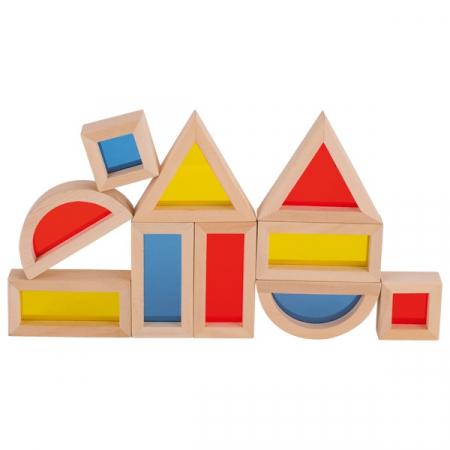 Set cuburi de construit din lemn, cu ferestre [1]