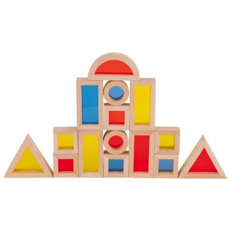 Set cuburi de construit din lemn, cu ferestre0