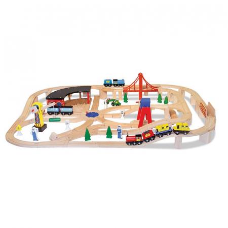 Set Trenulet din lemn cu depou1