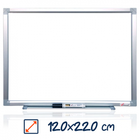 Tabla magnetica alba VISUAL – 120×220 cm0