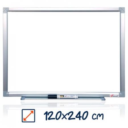 Tabla magnetica alba VISUAL – 120×240 cm0