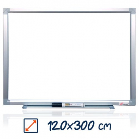 Tabla magnetica alba VISUAL – 120×300 cm0