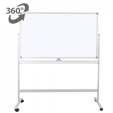 Whiteboard mobil cu 2 fete, 100×150 – VISUAL0