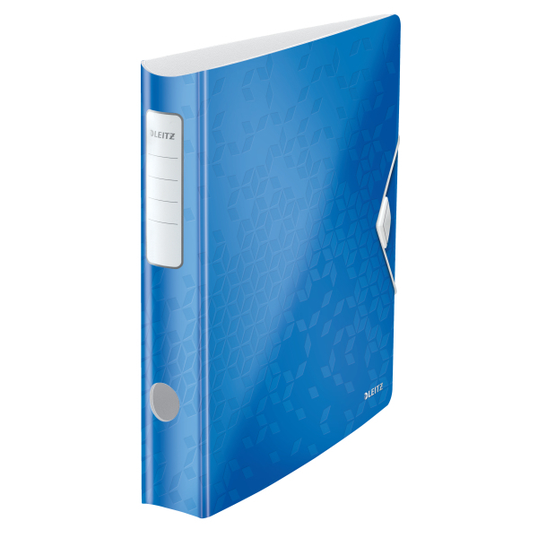 Biblioraft Leitz Active WOW 180°, A4, 50mm, polyfoam, albastru metalizat 0