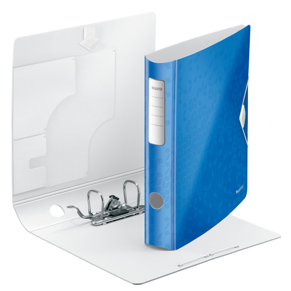 Biblioraft Leitz Active WOW 180°, A4, 50mm, polyfoam, albastru metalizat 1