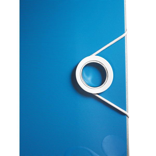 Biblioraft Leitz Active WOW 180°, A4, 50mm, polyfoam, albastru metalizat 3