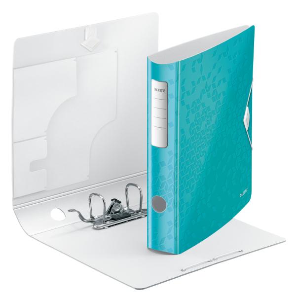 Biblioraft Leitz Active WOW 180°, A4, 50mm, polyfoam, turcoaz metalizat 1