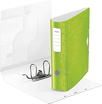 Biblioraft Leitz Active WOW 180°, A4, 75mm, polyfoam, roz metalizat 1