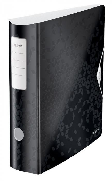Biblioraft Leitz Active WOW 180°, A4, 75mm, polyfoam, roz metalizat 0