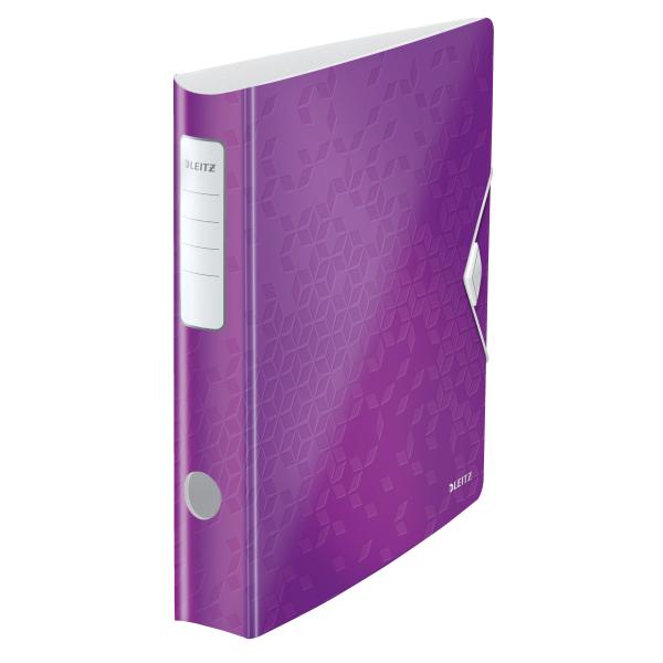 Biblioraft Leitz Active WOW 180°, A4, 75 mm, polyfoam, mov metalizat 1
