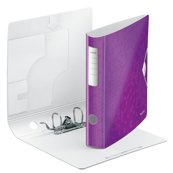 Biblioraft Leitz Active WOW 180°, A4, 75 mm, polyfoam, mov metalizat 2