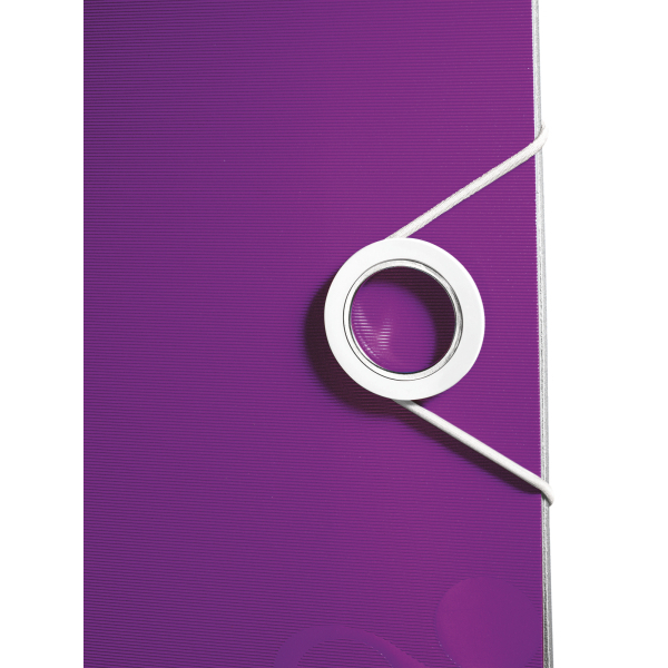 Biblioraft Leitz Active WOW 180°, A4, 75 mm, polyfoam, mov metalizat 0
