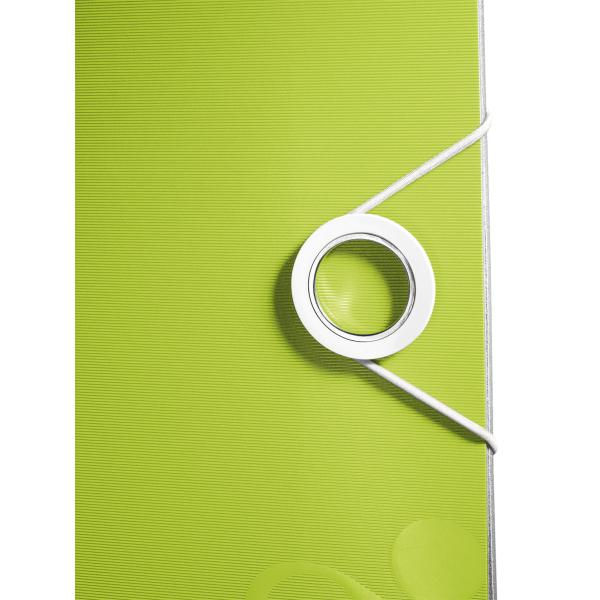 Biblioraft Leitz Active WOW 180°, A4, 75mm, polyfoam, verde metalizat 0