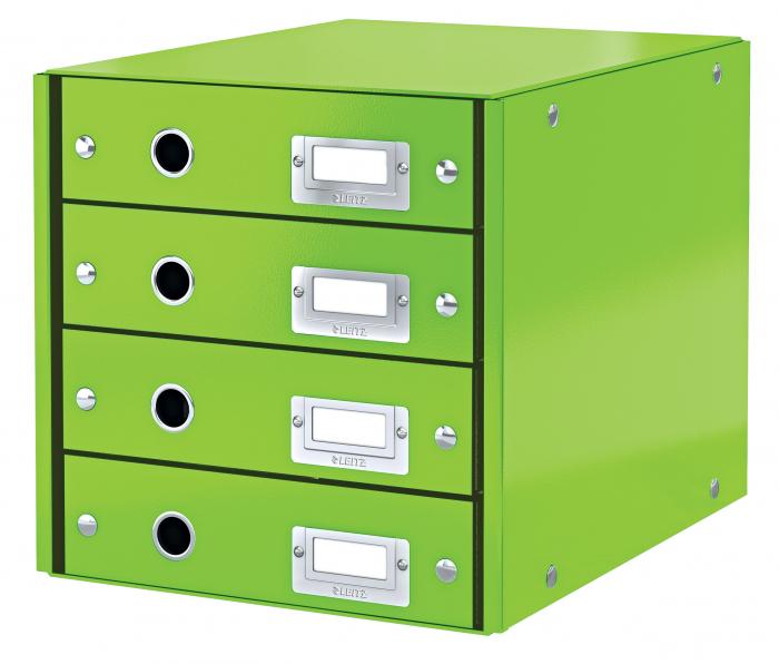 Cabinet cu sertare Leitz WOW Click & Store, 4 sertare, verde 0