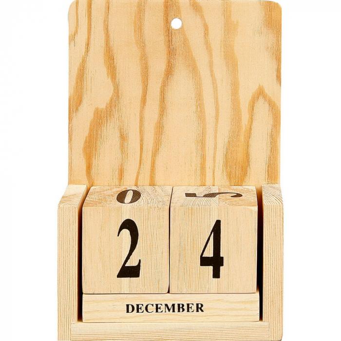 Calendar lemn cuburi datate 0