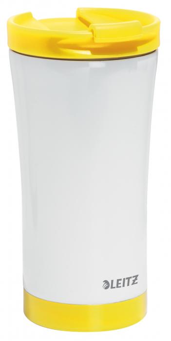 Cana termica Leitz WOW, otel inoxidabil, 380 ml, galben 0