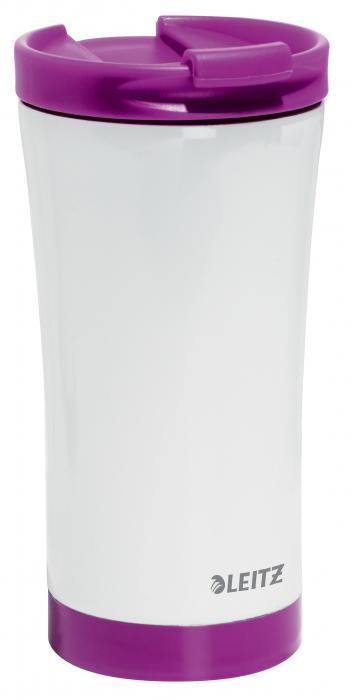 Cana termica Leitz WOW, otel inoxidabil, 380 ml, mov 0