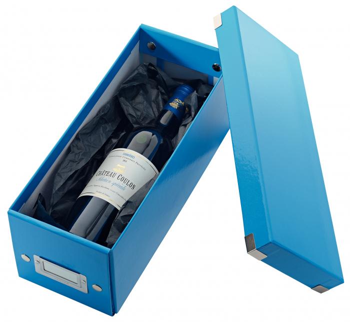 Cutie depozitare Leitz WOW Click & Store, carton laminat, albastru 2
