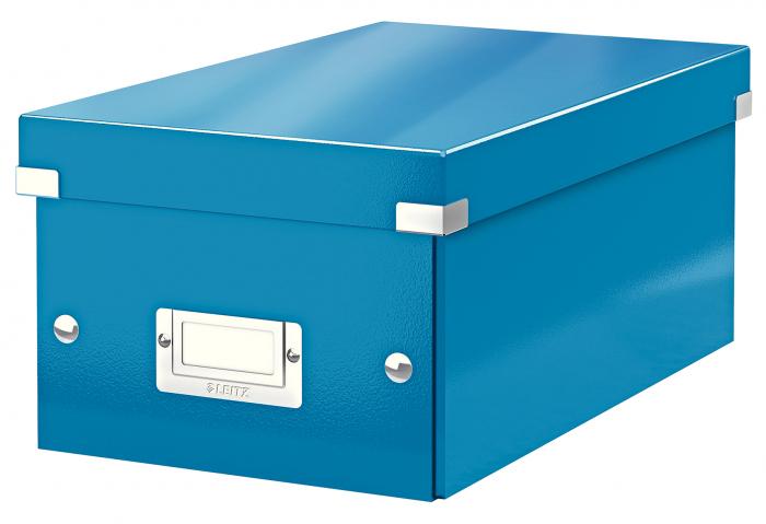 Cutie depozitare Leitz WOW Click & Store, carton laminat, albastru 0