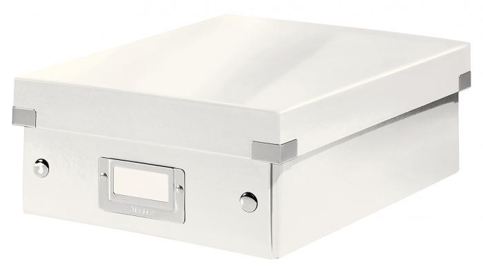 Cutie depozitare Leitz WOW Click & Store Organizer, carton laminat, mica, alb 0