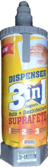 Dispenser 3 in 1 cu dezinfectant suprafete, gri 1
