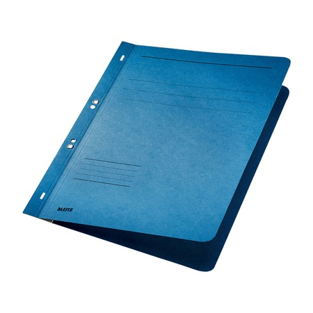 Dosar incopciat 1/1 cu capse Leitz carton albastru 0