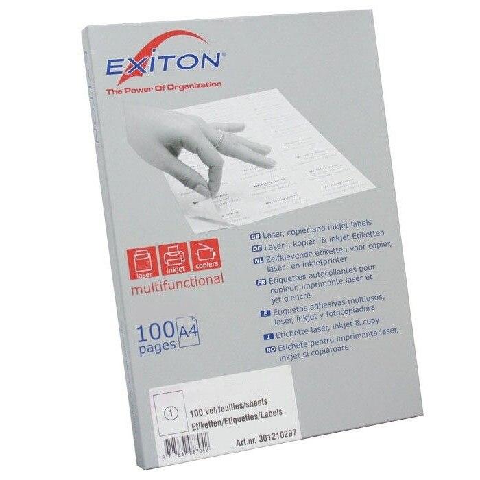 Etichete autoadezive 6/A4 Exiton 210x48 100 coli/top 0