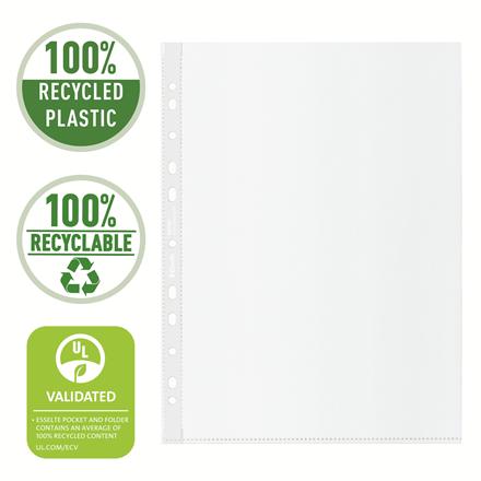 Folie de protectie Esselte Recycled, PP, A4, 70 mic, 100 buc/cutie, standard [2]