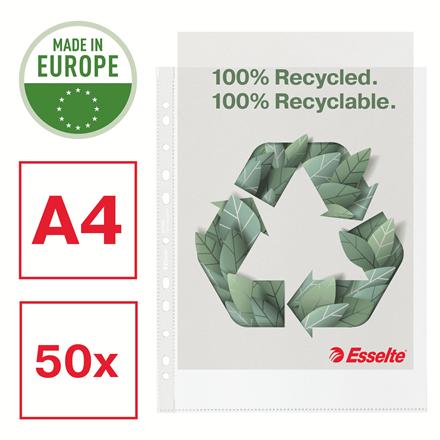 Folie de protectie Esselte Recycled, PP, A4 MAXI, 70 mic, 50 buc/cutie, standard [0]