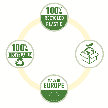 Folie de protectie Esselte Recycled, PP, A4 MAXI, 70 mic, 50 buc/cutie, standard [2]