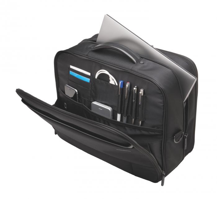 """Geanta Kensington Contour 2.0 Business, pentru laptop de 17"""", 2 rotile, negru 4"""