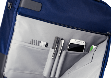"Geanta Leitz Smart Traveller Laptop 13,3"" albastru-violet 2"