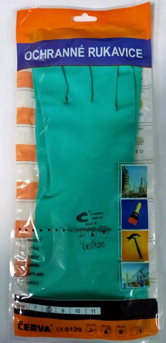 Manusi nitril guard Cerva verde 2 buc. 1
