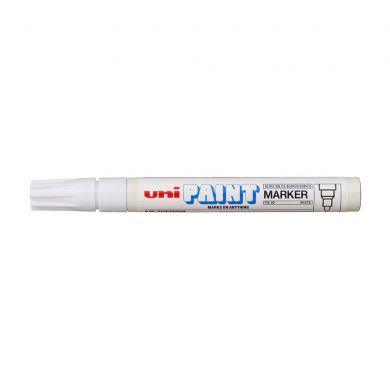 Marker cu vopsea Uniball PX-20 2.2-2.8mm alb [0]