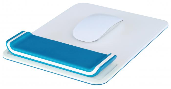 Mouse pad Leitz Ergo WOW cu suport pentru incheietura mainii, albastru 1